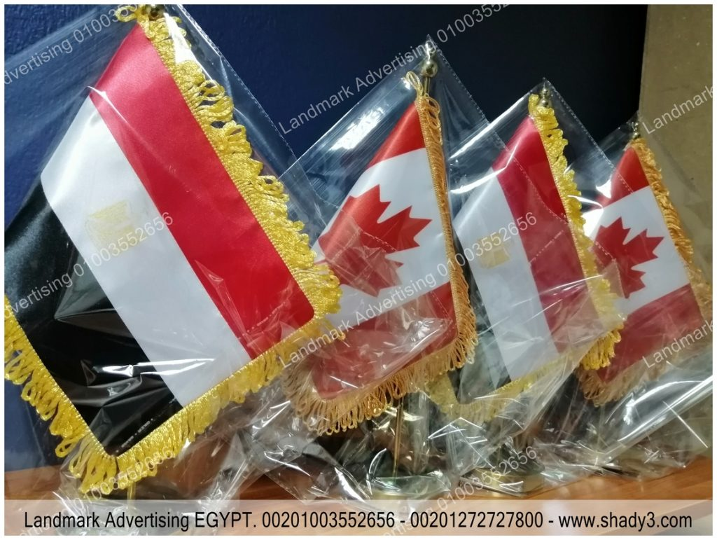 Egypt And Canada Desk Flag in Egypt
