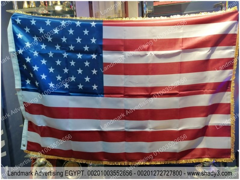 flag of united states of america fabric satin